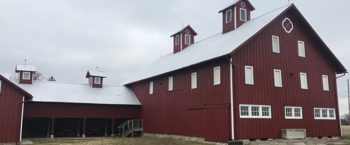 exterior of Creek Bend Farm Barn
